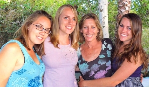 Karen Taylor with her daughters.